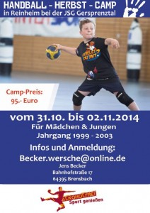 Handball Herbstcamp 2014/2015