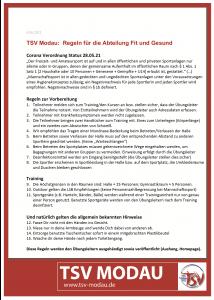 Regeln FitundGesund 8.6.21